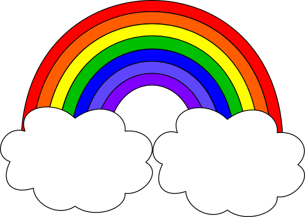 600x427 Rainbow With Clouds Clipart