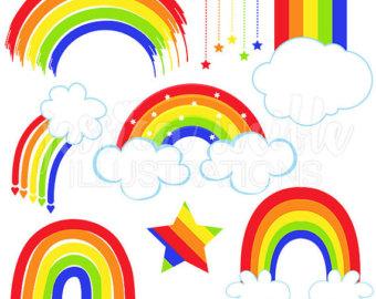 340x270 Rainbow Clip Art Etsy