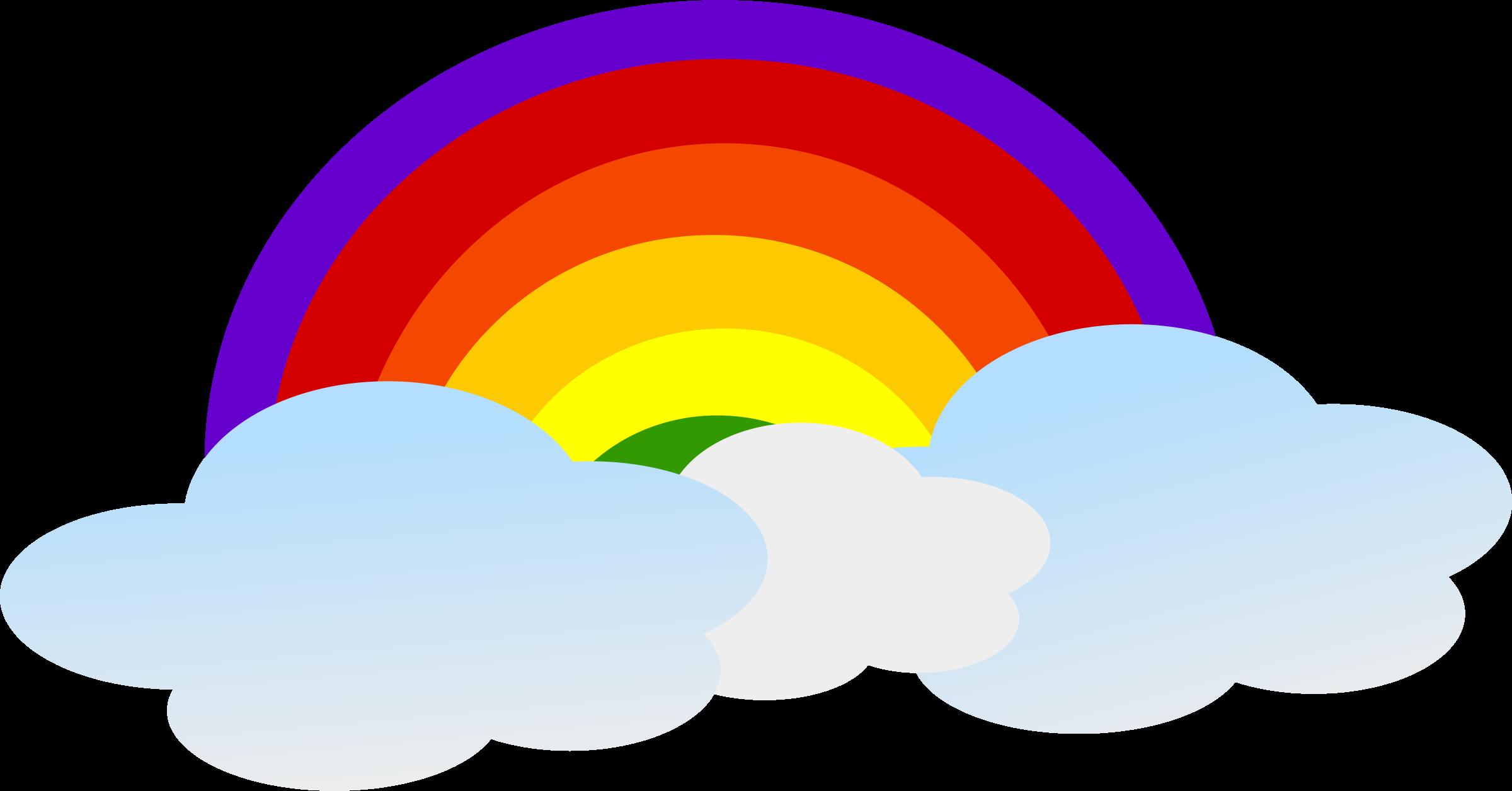 2400x1256 Rainbow Clip Art Rainbow Images Clipartix 2