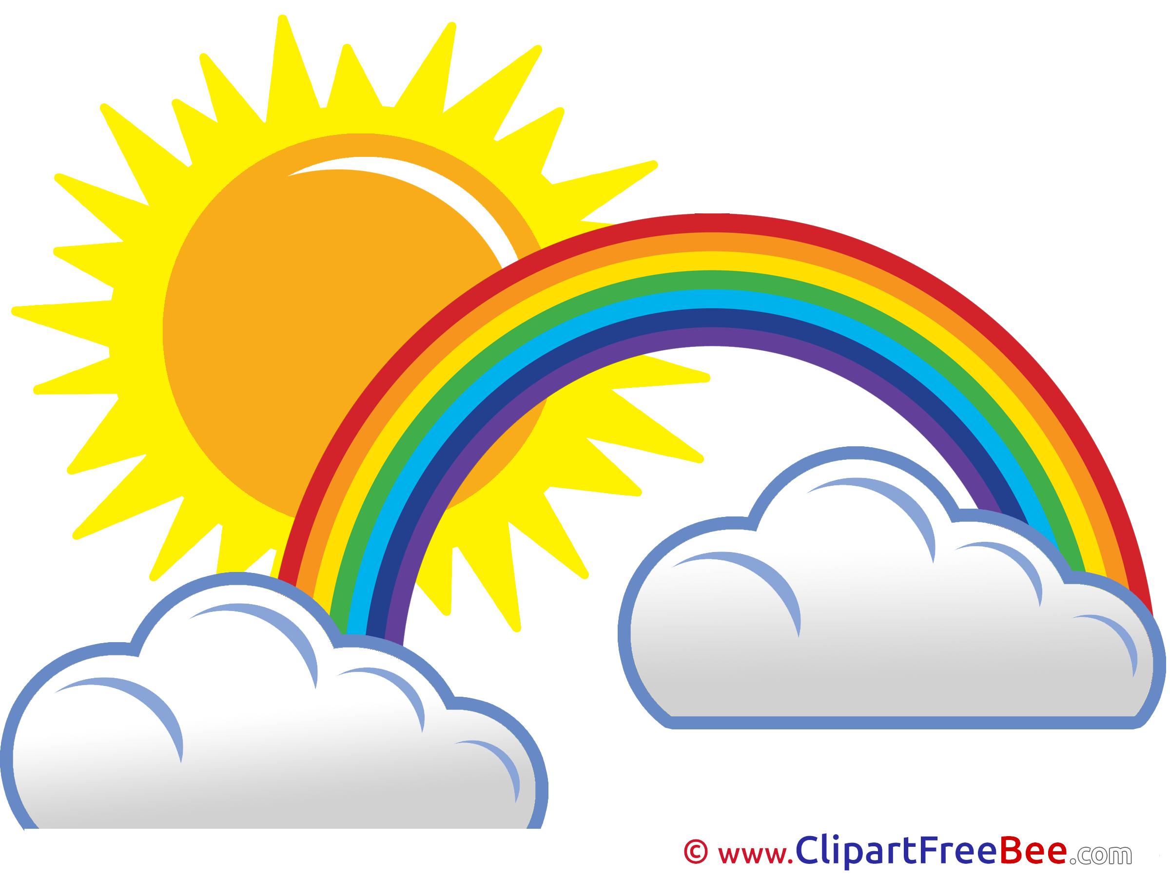 2400x1800 Rainbow Clipart Sun