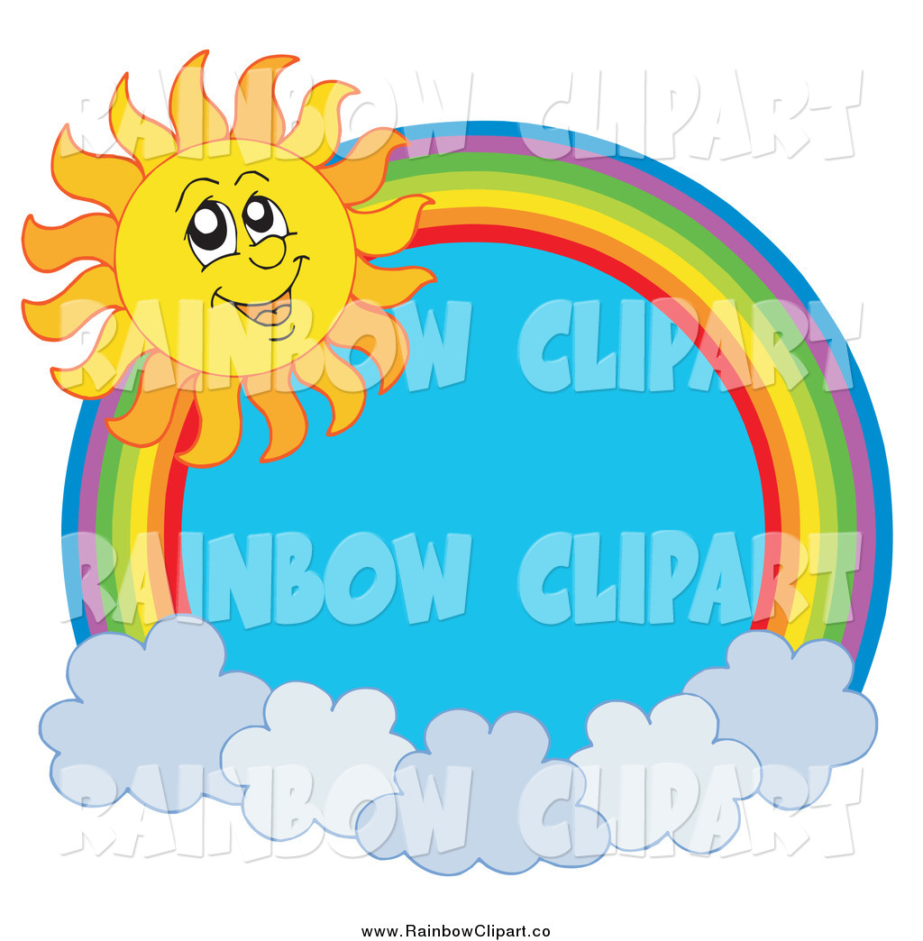 1024x1044 Vector Clip Art Of A Rainbow And Cloud With A Summer Time Sun