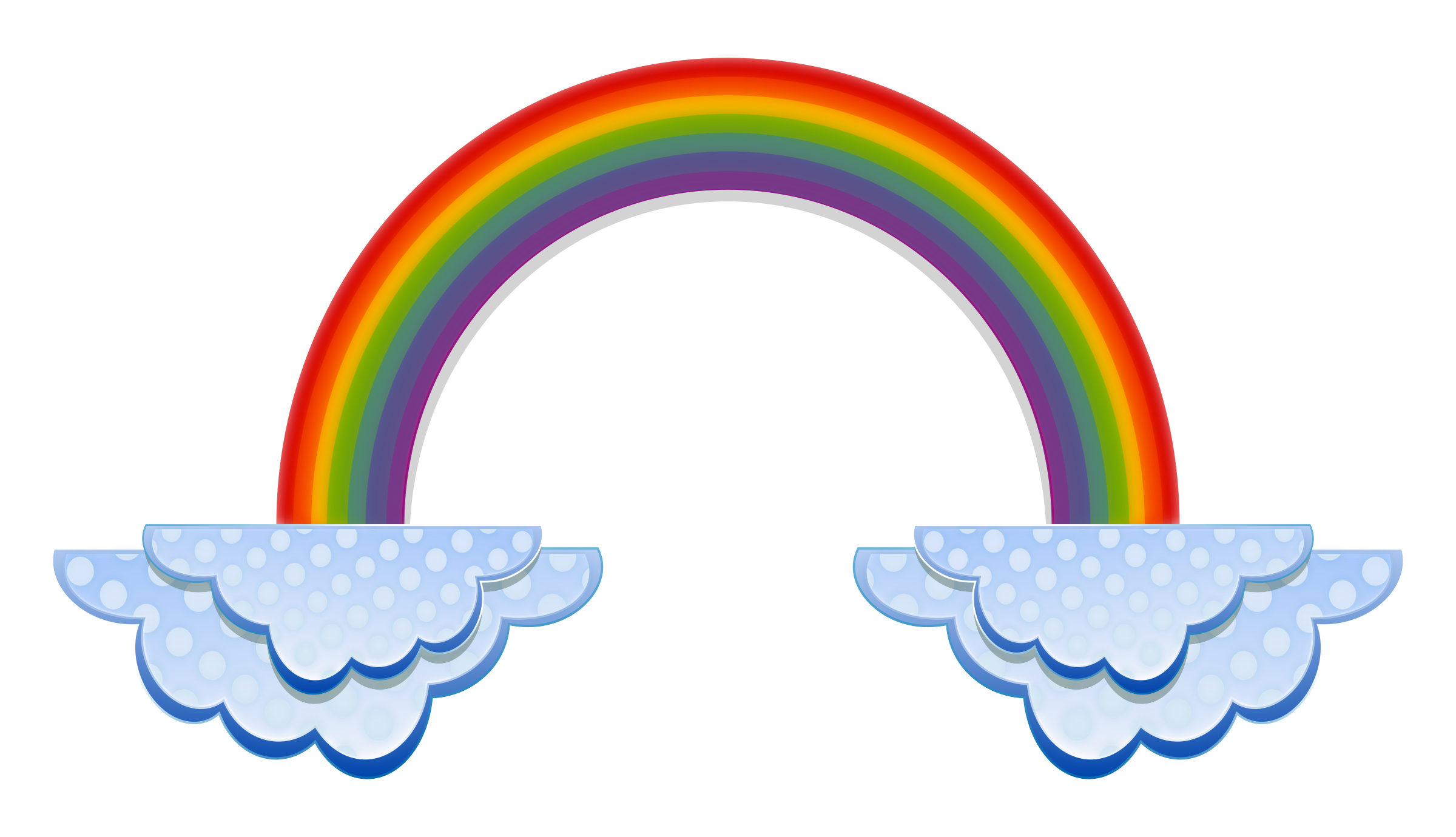 2400x1380 Vector Rainbow With Clouds Clipart