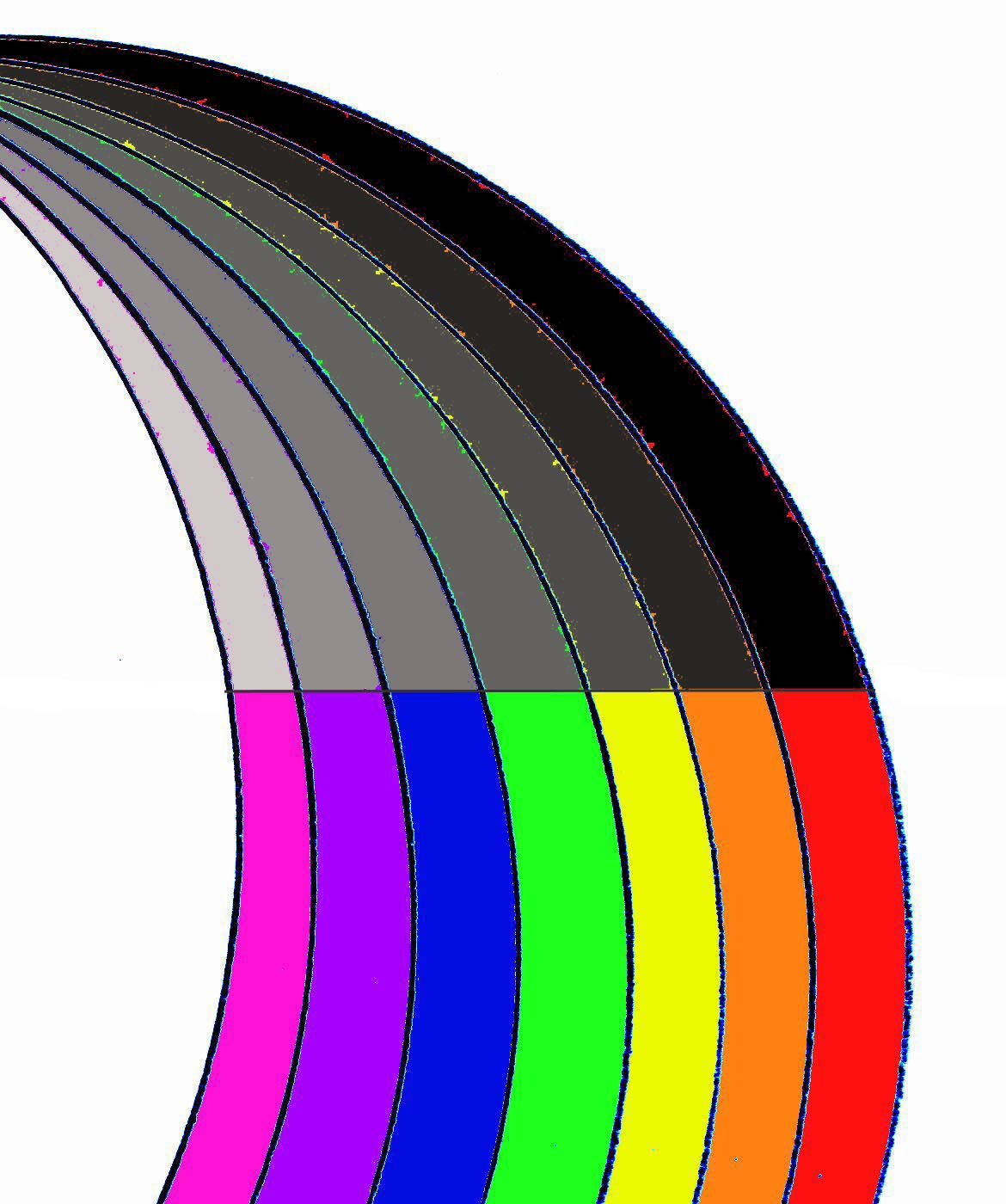1170x1400 Rainbow Black And White Clipart