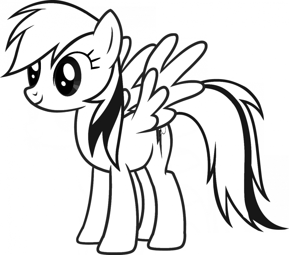 940x828 Rainbow Dash Clipart Black And White