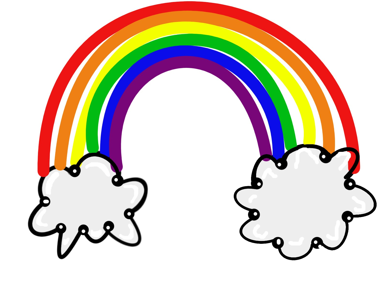 1600x1200 Black And White Rainbow Outline Free Clipart Images Clipartix