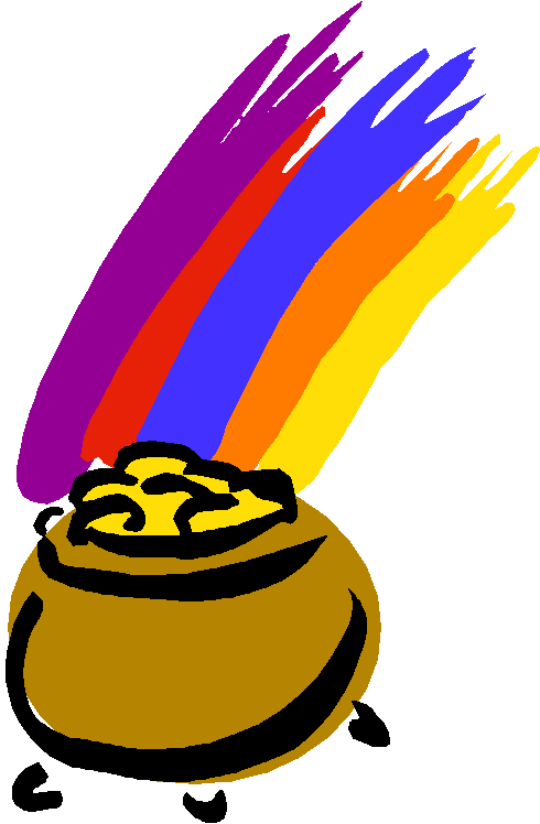 490x748 Rainbow With Pot Of Gold Clipart
