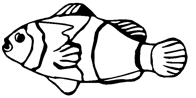672x338 Tropical Fish Clipart Black And White