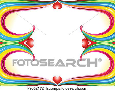 450x357 Clipart Of Abstract Rainbow Border K9052172