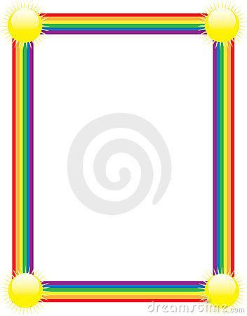 352x450 Rainbow Border Clipart