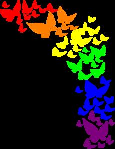 230x297 Rainbow Butterfly Clip Art