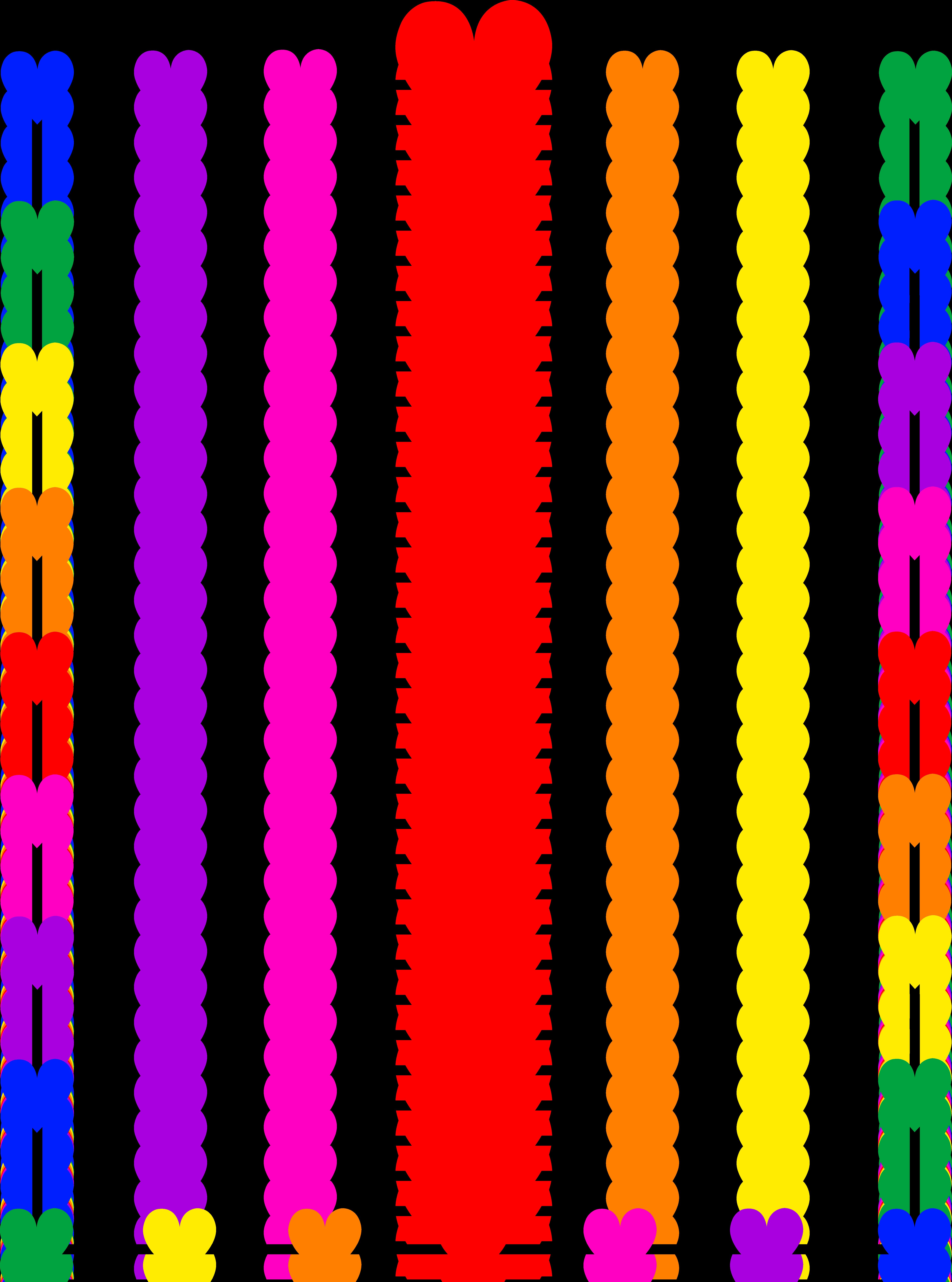 5952x8014 Rainbow Hearts Border Frame