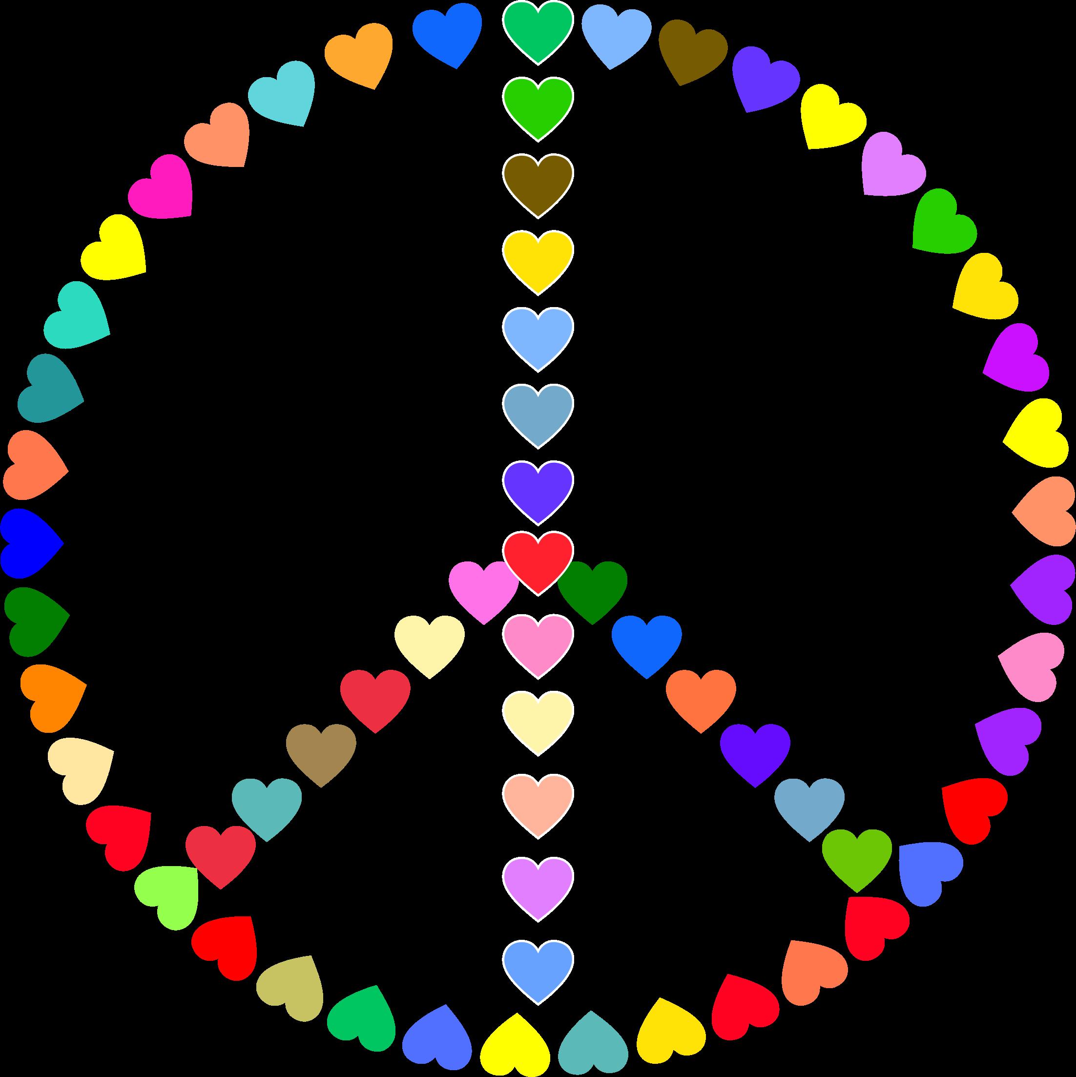2204x2206 Rainbow Peace Sign Clip Art