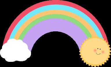 383x233 Sun And Rainbow Clip Art