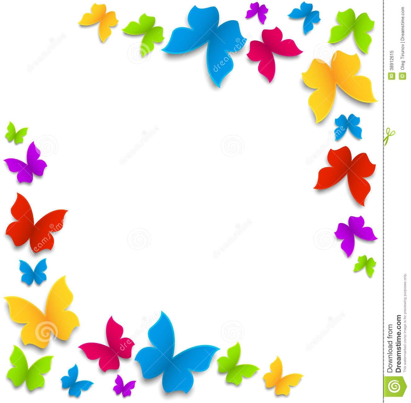 1325x1300 Rainbow Butterfly Clipart Border