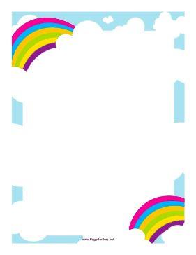 281x364 Free Cloud Border Clip Art