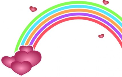 425x269 Free Clipart Rainbow Download
