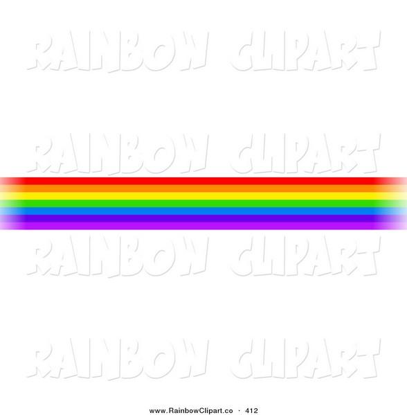 588x599 Rainbow Line Clipart