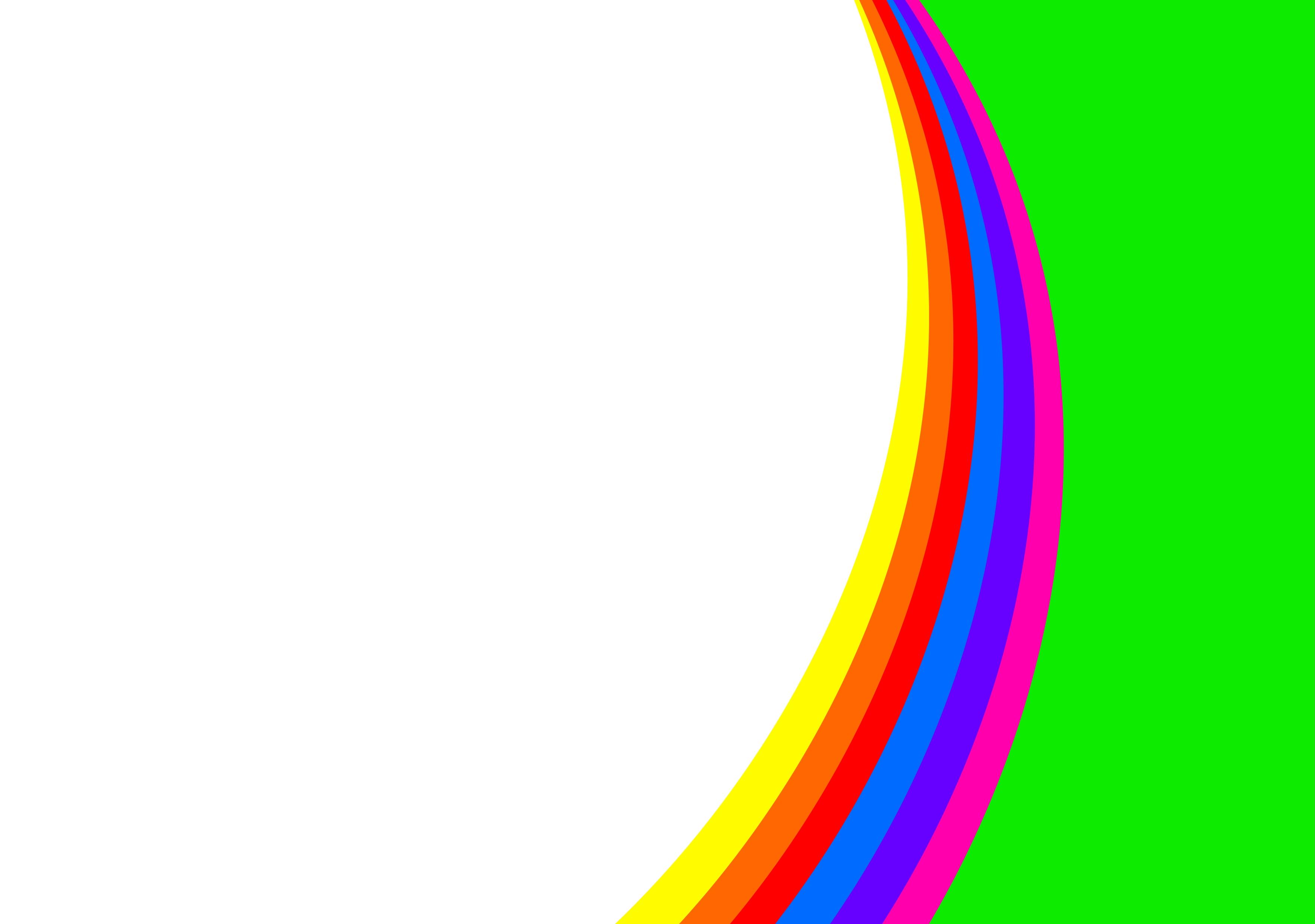 3527x2480 Rainbow Swirl Clip Art