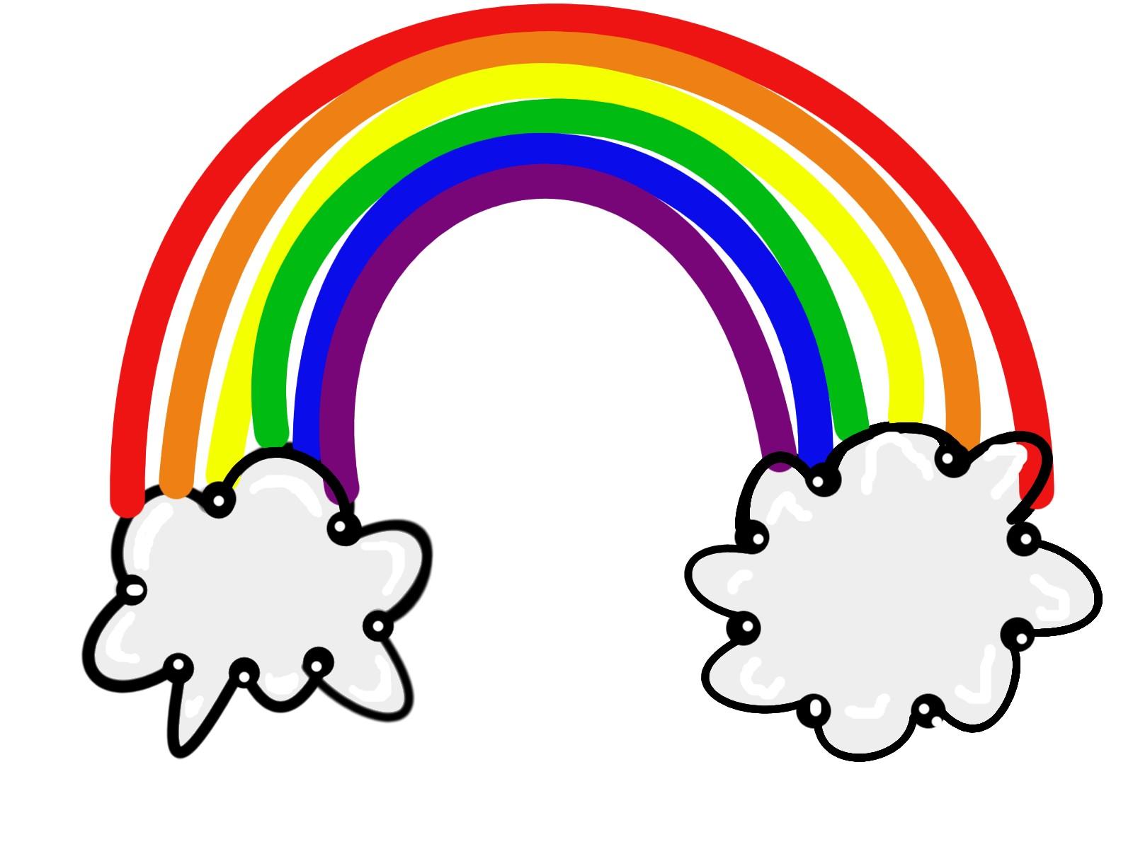 1600x1200 Rainbow Clipart Border