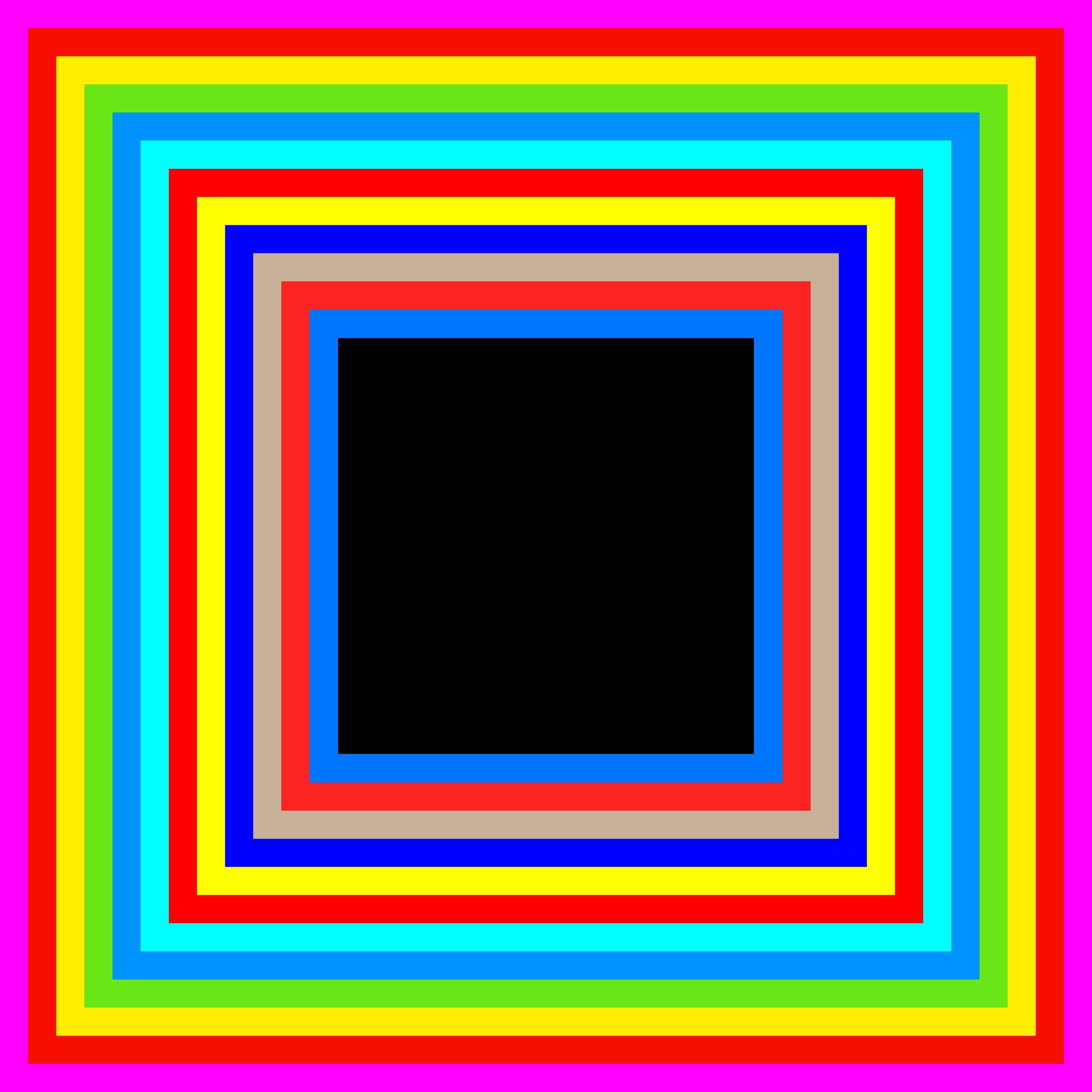 2400x2400 Rainbow Frame Clipart