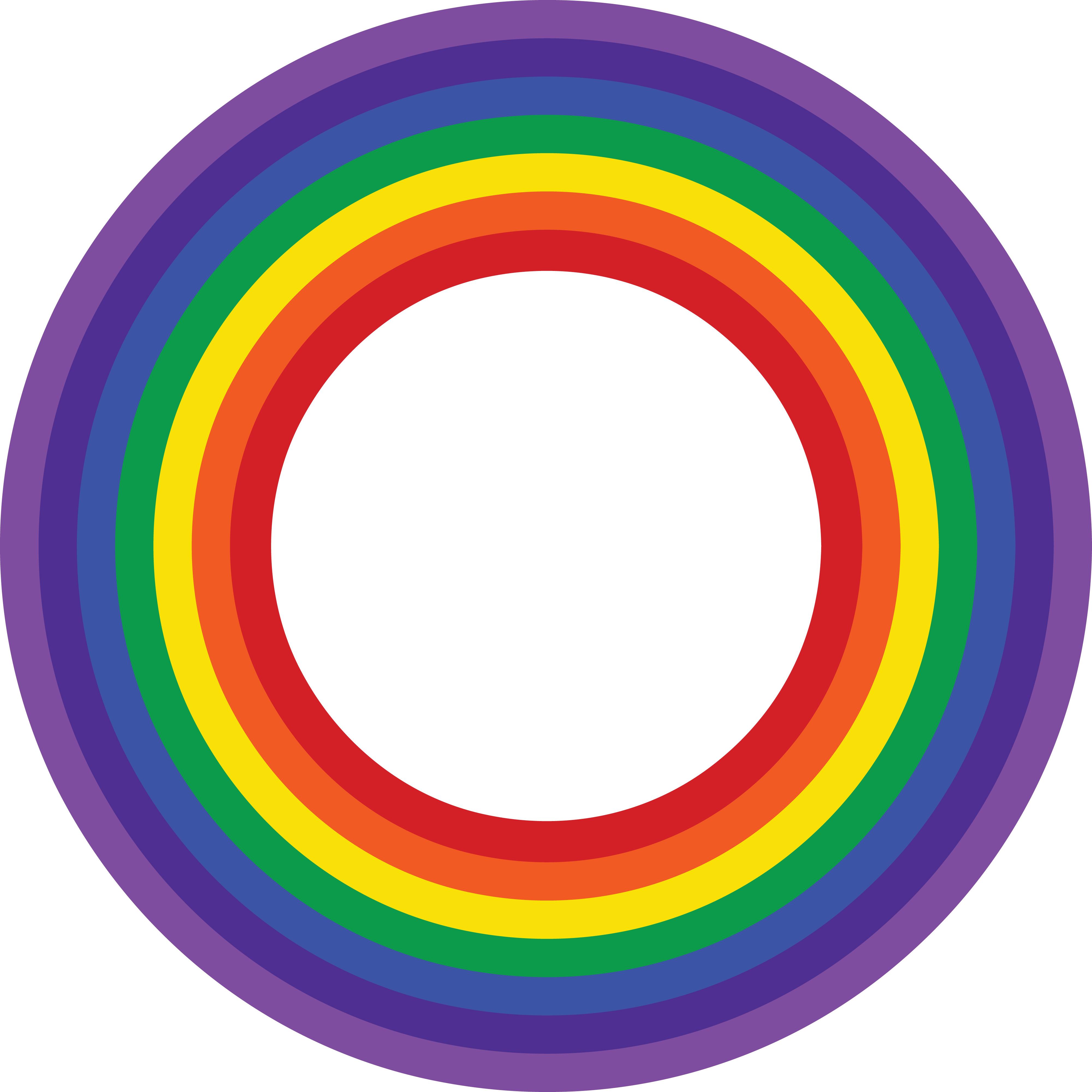 4000x3998 Clipart Of A Rainbow Border