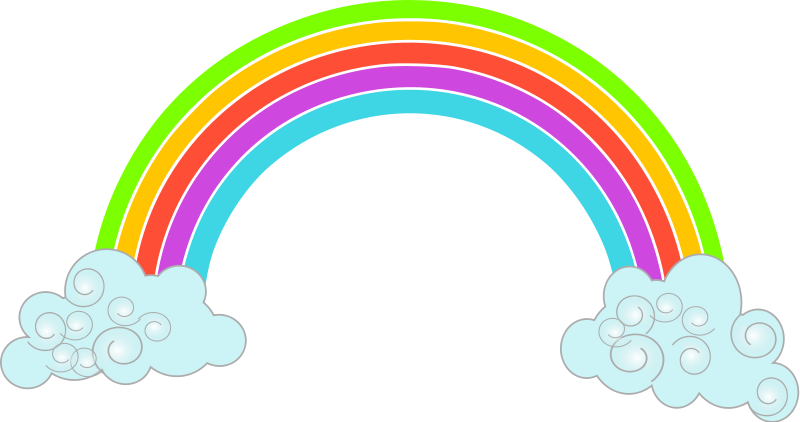 800x422 Rainbow clip art image