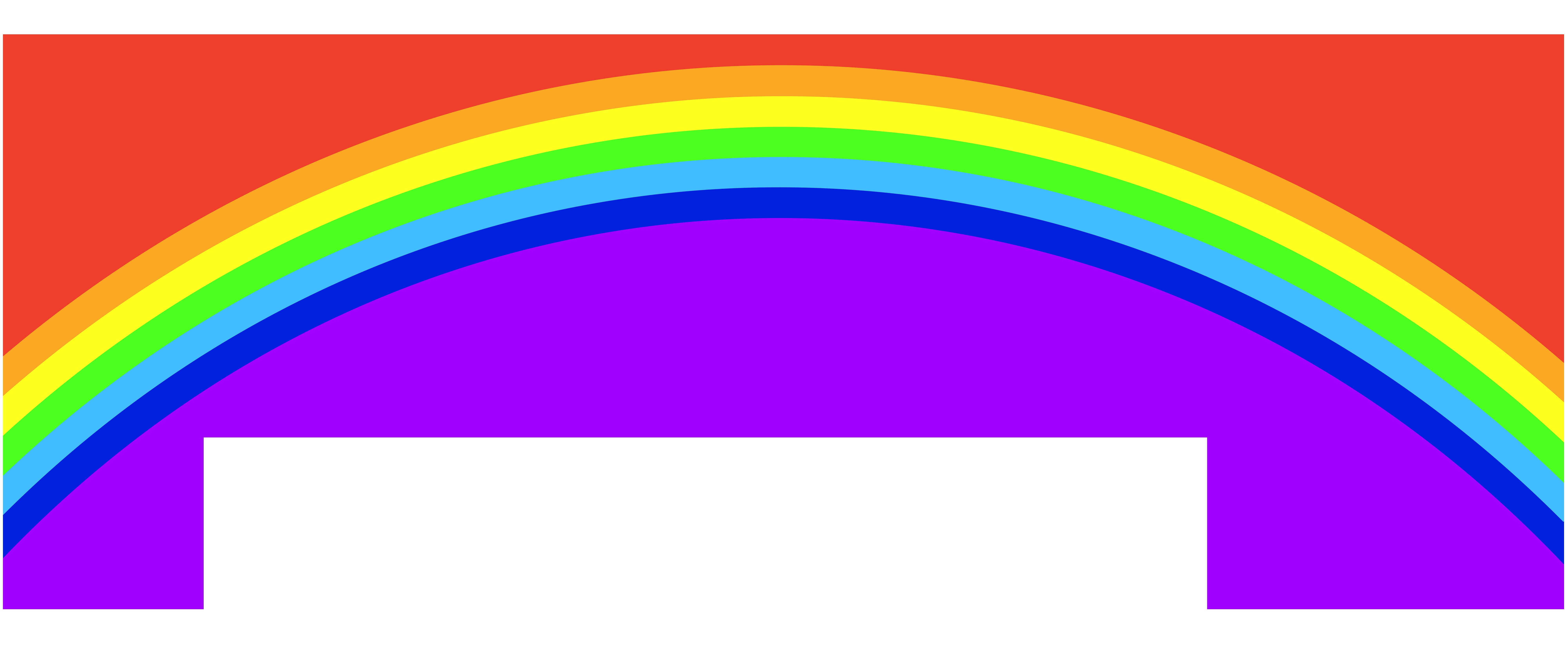 8000x3315 Rainbow clip art image