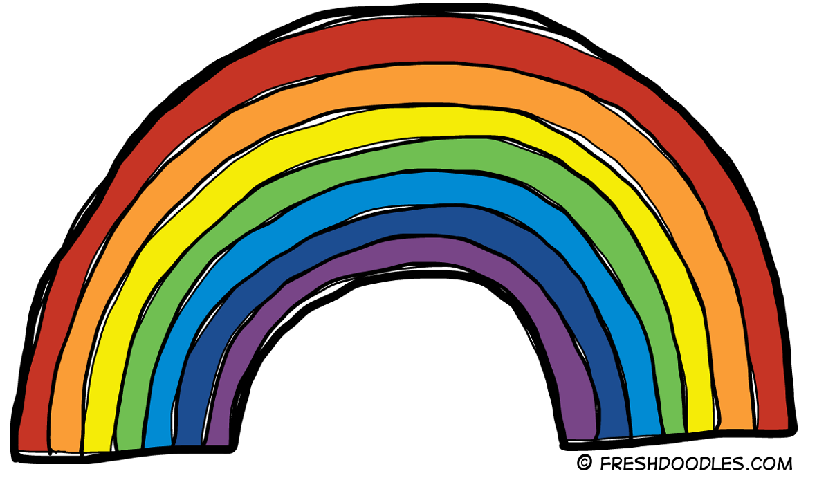 1181x691 Rainbow Clipart Black And White Free Clipart Images 2
