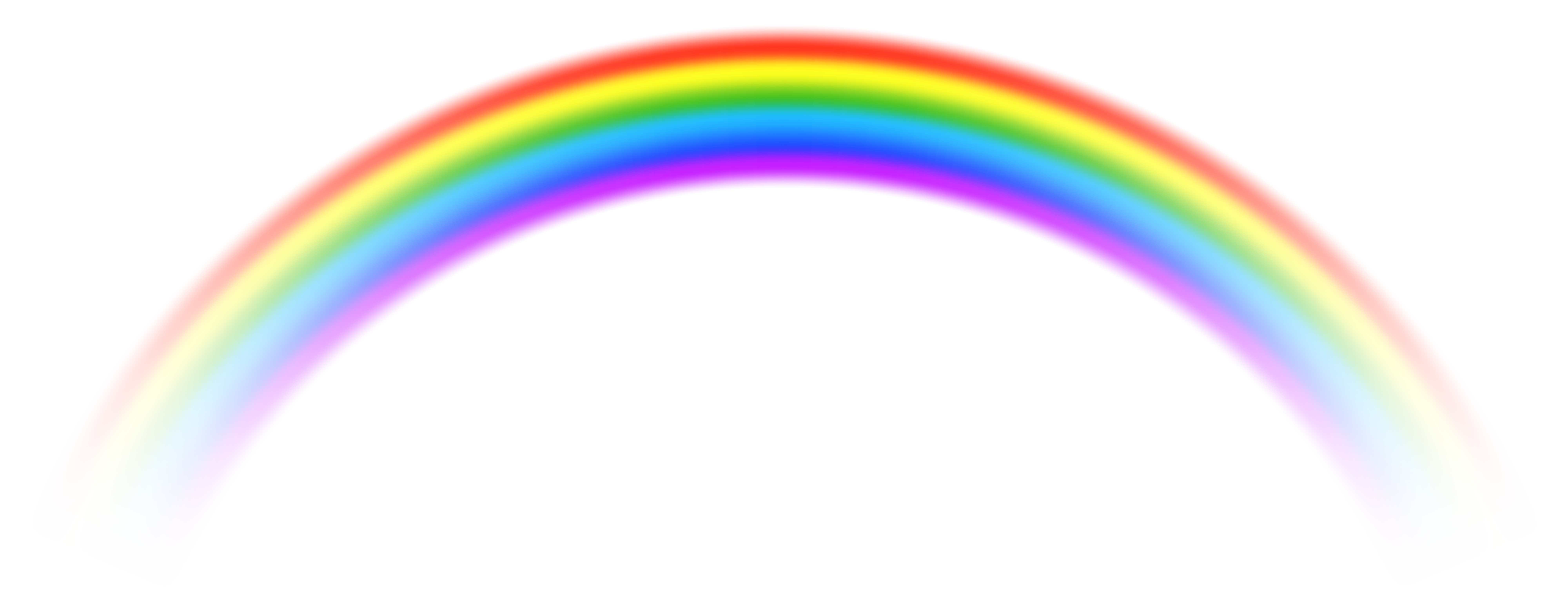 8000x3074 Transparent Rainbow Clipart