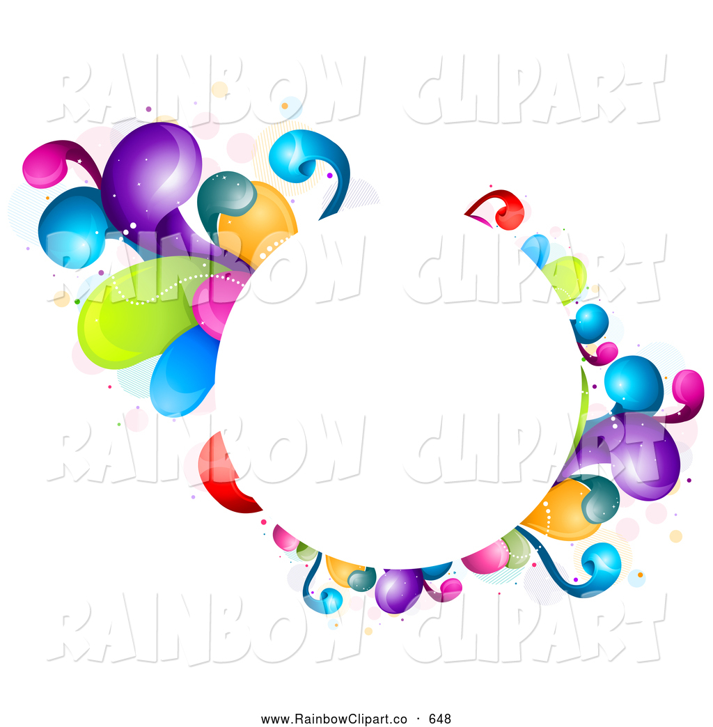1024x1044 Vector Clip Art Of A Circular Colorful Splash Frame By Bnp Design