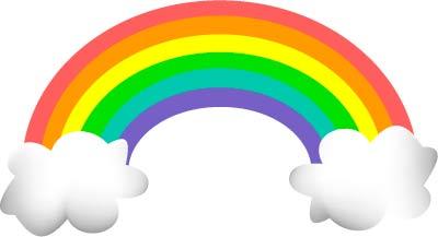 400x217 Free rainbow clipart Clipart Panda