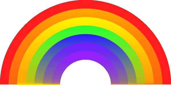 600x300 Rainbow Clip Art
