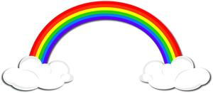 300x131 Rainbow Clipart Image