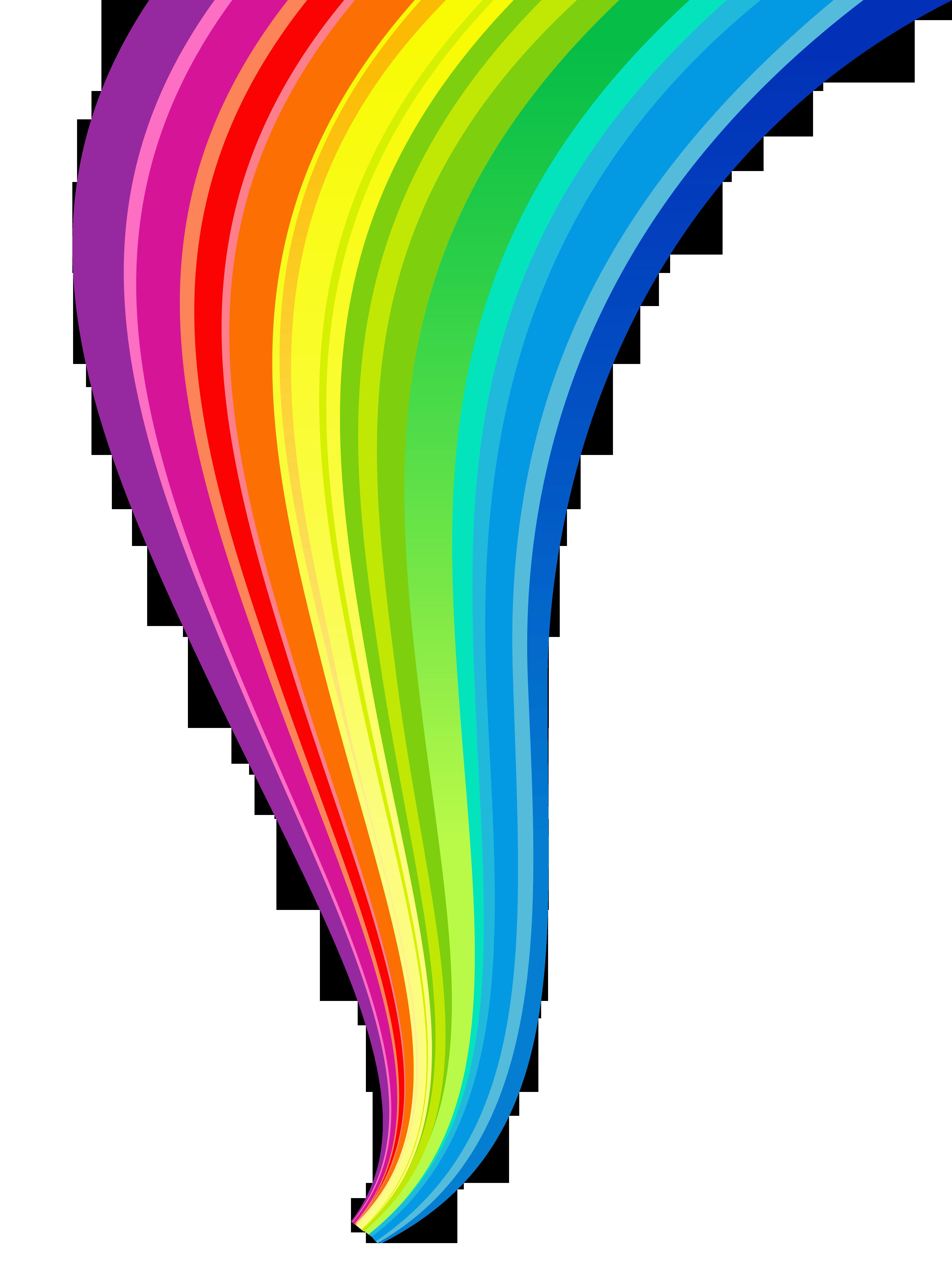 3830x5072 Rainbow Line Clip Art Cliparts