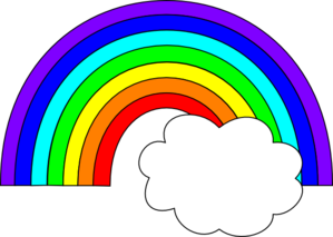 299x213 Rainbow With One Cloud Clip Art