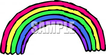 350x182 Royalty Free Clip Art Image Cartoon Rainbow