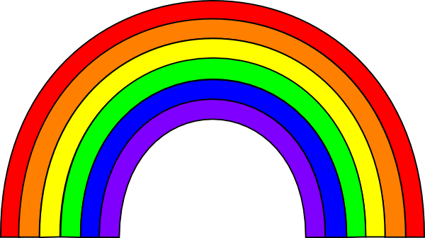 600x336 This Free Rainbow Clip Art Is Clipart Panda