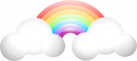 444x200 Cloud rainbow clip art free vector for download about