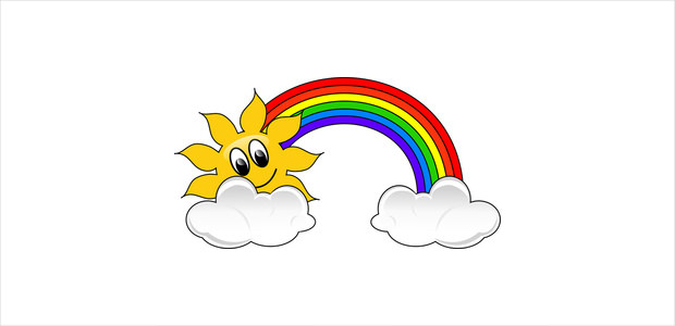 620x300 Cute rainbow clipart clipartfest 2