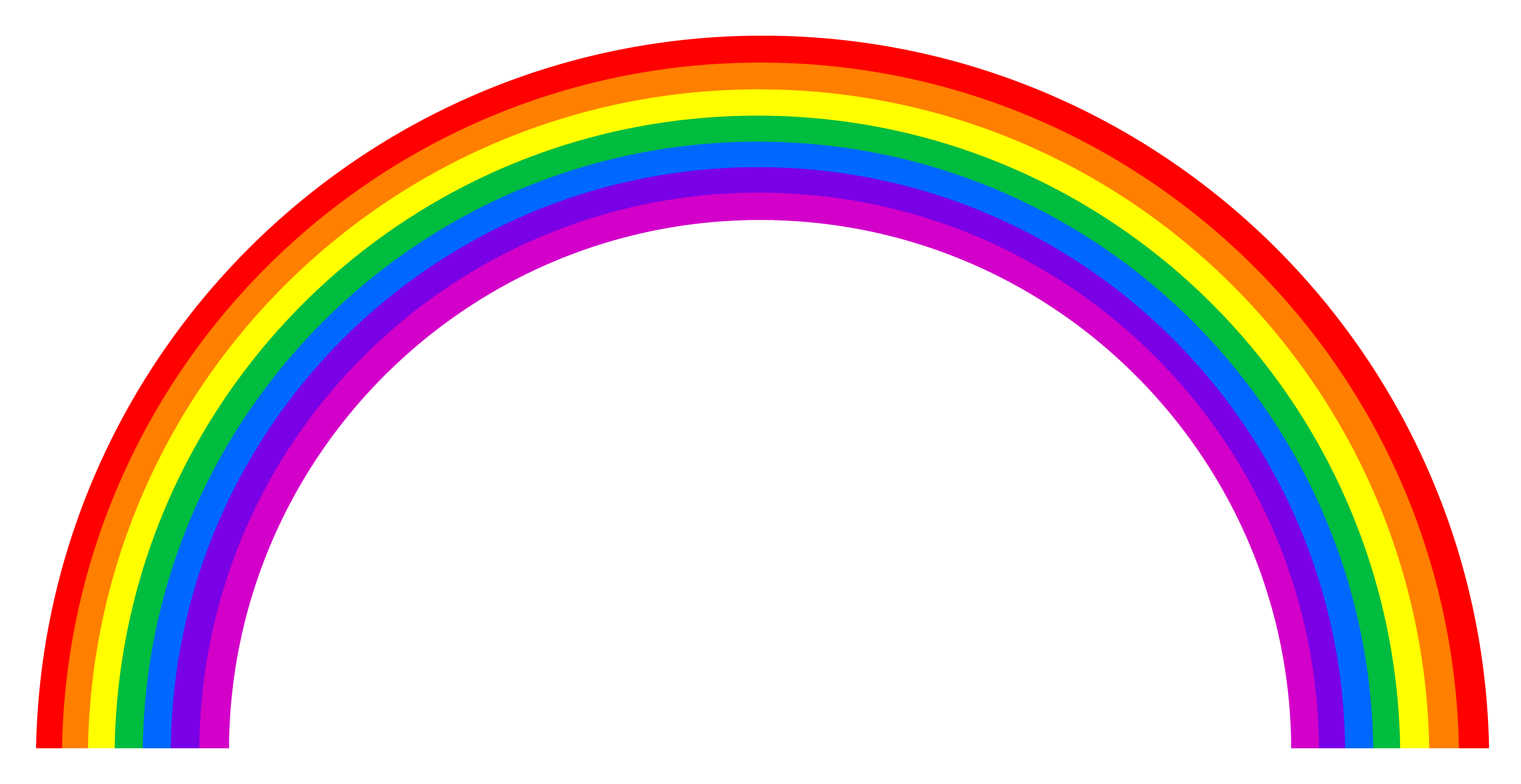 6088x3139 Rainbow Clip Art Black And White Free Clipart Images