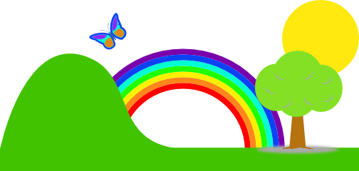 504x240 Rainbow Clipart For Kid Png