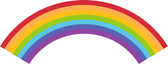 550x212 Rainbow Clipart For Kids Free Images 4