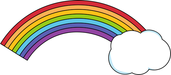 550x241 Rainbow With Clouds Clipart Kid
