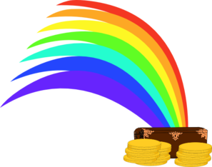 297x234 Gold At The End Of The Rainbow Clip Art