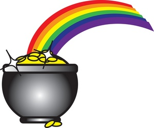 300x249 Pot Of Gold Clipart Image