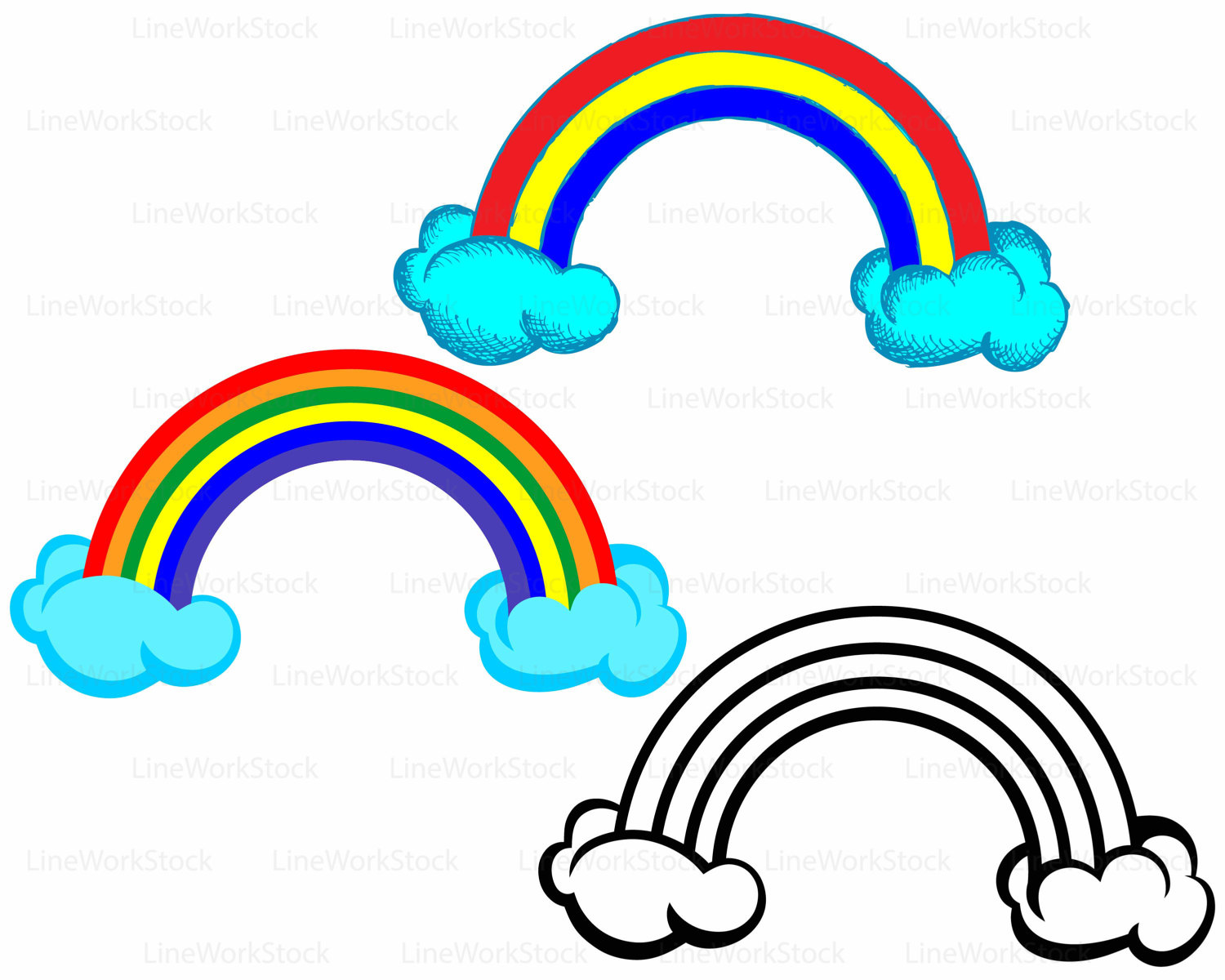 1500x1200 Rainbow Clouds Svg,rainbow Clipart,clouds Svg,rainbow Silhouette