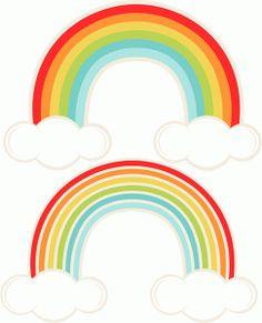 236x291 Rainbows Clipart Scrapbook Printables, Vector Rainbow And Cloud