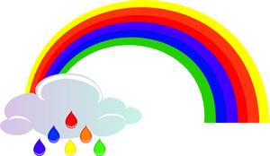 300x174 Top 80 Rainbow Clip Art