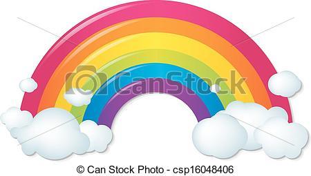 450x255 Drawn Rainbow Cloud Clip Art