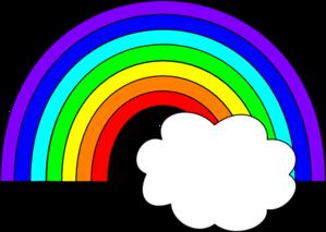 299x213 Rainbow With One Cloud Clip Art